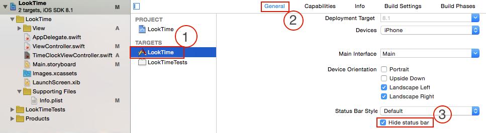 xcode6.xでのステータスバーの消し方